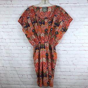 Anthropologie Maeve Print Dress Elastic Waist XS